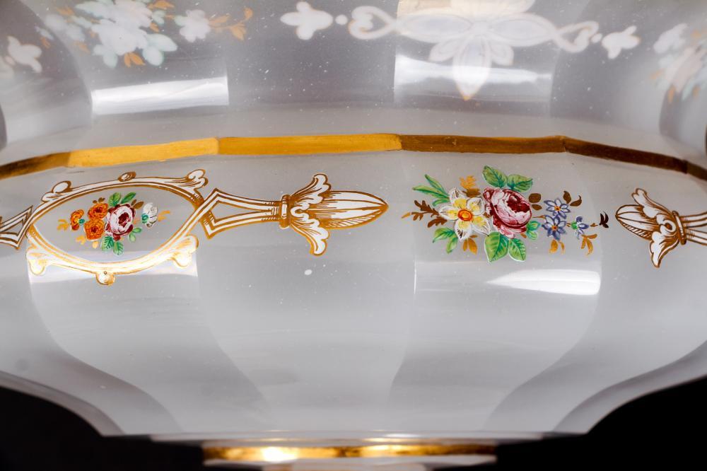 Bohemian Gilt And Enamel Decorated Pedestal Bowl