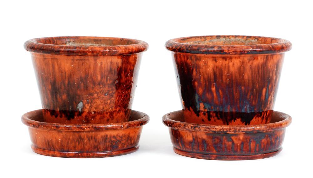 Two John Bell Redware Planters