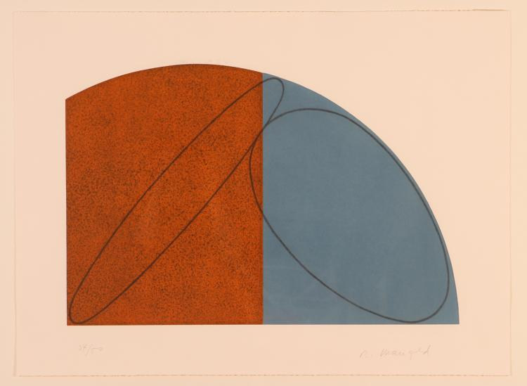 Robert Mangold 1995 Untitled, etching with aquatint