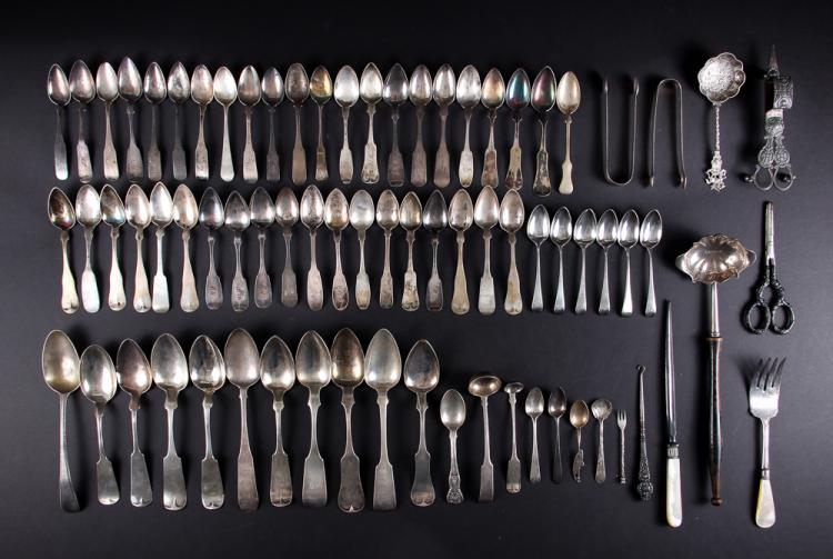 An Asst of American Coin silver & Sterling spoons
