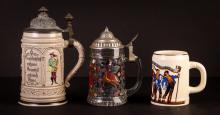 3 Contemporary German Beer Steins
