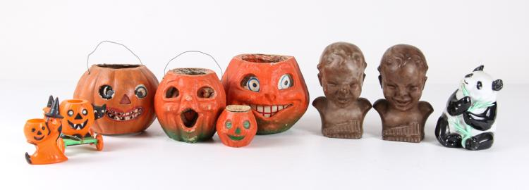 Vintage Papier Mache Halloween decorations & more