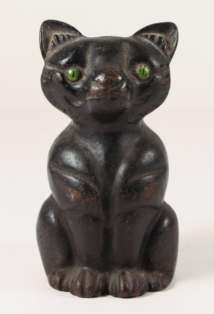 Black Cast Iron Cat doorstop