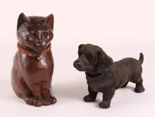 Antique Cat and Dog Figures