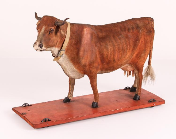 19th Century Cow Pull Toy
