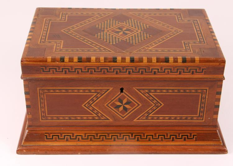 Prison Folk Art marquetry Presentation Box
