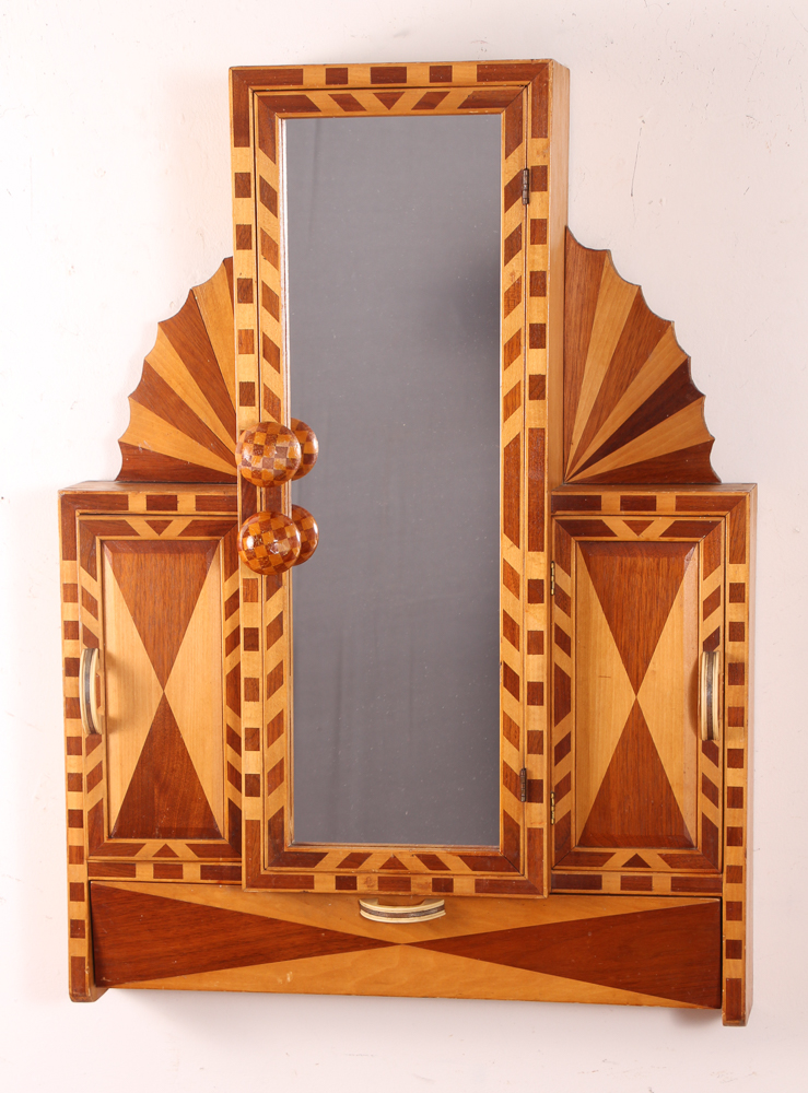 Art Deco hanging Bathroom Wall Vanity