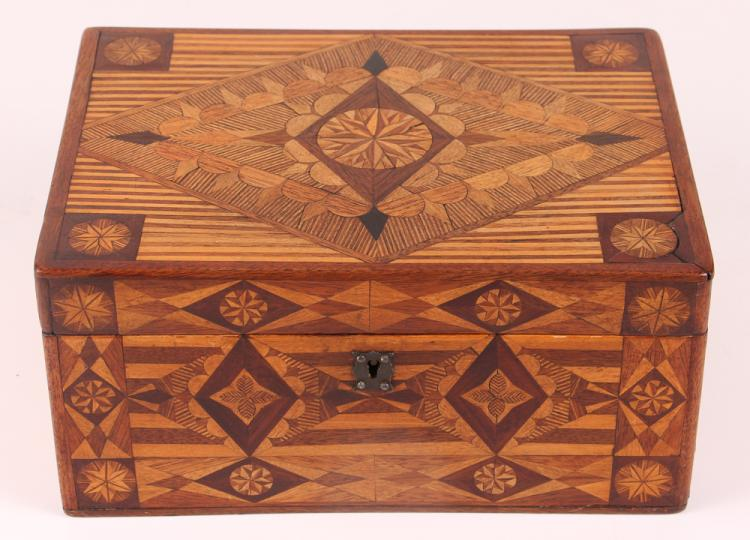 Prison made Folk Art Marquetry Box
