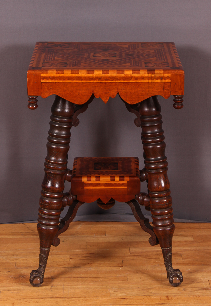 Antique Marquetry Lamp Table