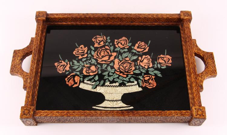 Victorian Marquetry Serving Tray