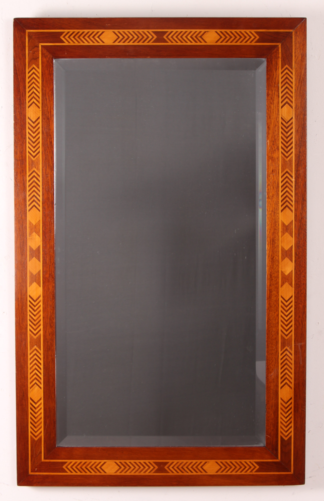 Marquetry Inlaid Mirror