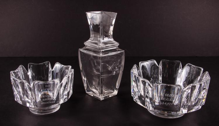 3 Pieces of Decorative Presentation Glassware