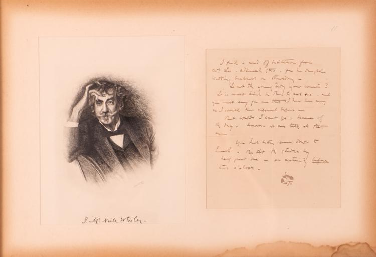WHISTLER JAMES ABBOTT MCNEILL signed letter
