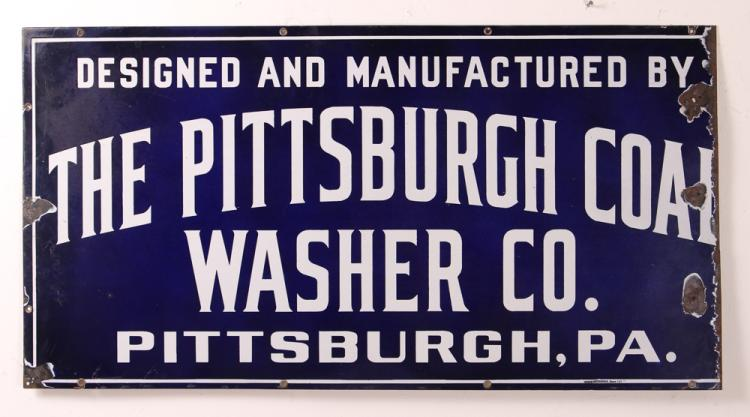 Pittsburgh Coal Washer Co. Porcelain Sign