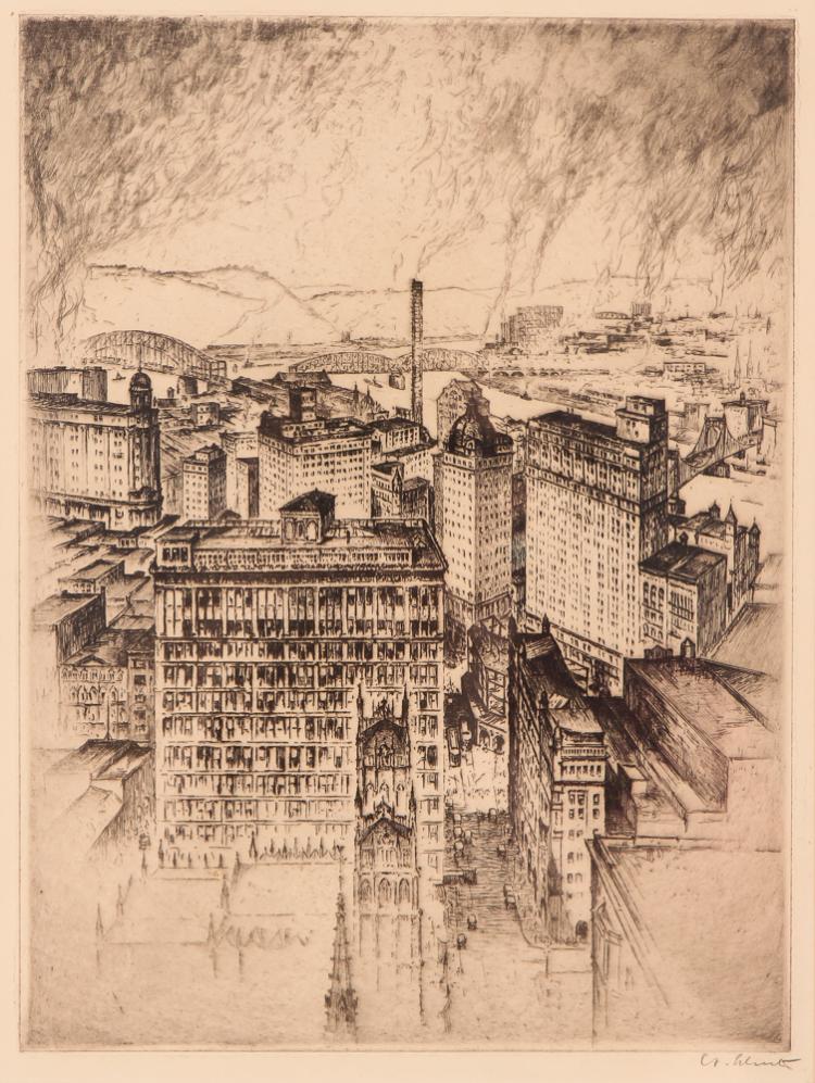 Anton Schutz 1925 etching