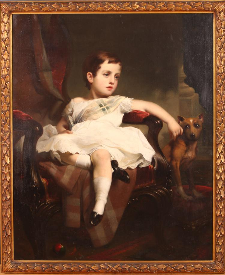 Samuel Bell Waugh portrait 8 Year Old