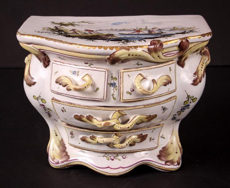 Veuve Perrin Jewelry Box in 18th Century Style Louis XV commode chest