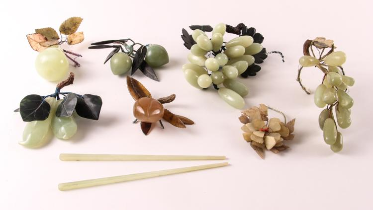 Assorted Hardstone Fruit Decorative Accents
