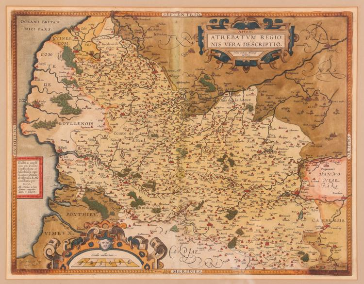 Early European Map, Artois, Later Edition of Antwerp and Western Europe