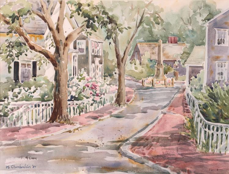 M. Chamberlain watercolor