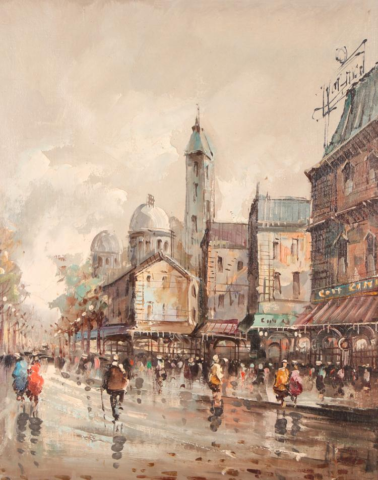 Antonio DeVity painting of Paris
