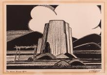"""Dorothy Kent """"The Enchanted Mesa of Acoma"""" 1926 Lithograph"""