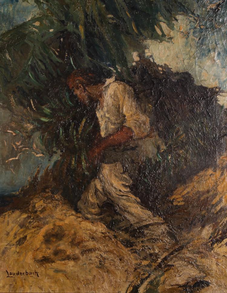 Walt Louderback painting