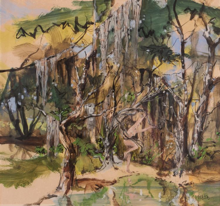 Signed Sherman Raveson Watercolor Everglades