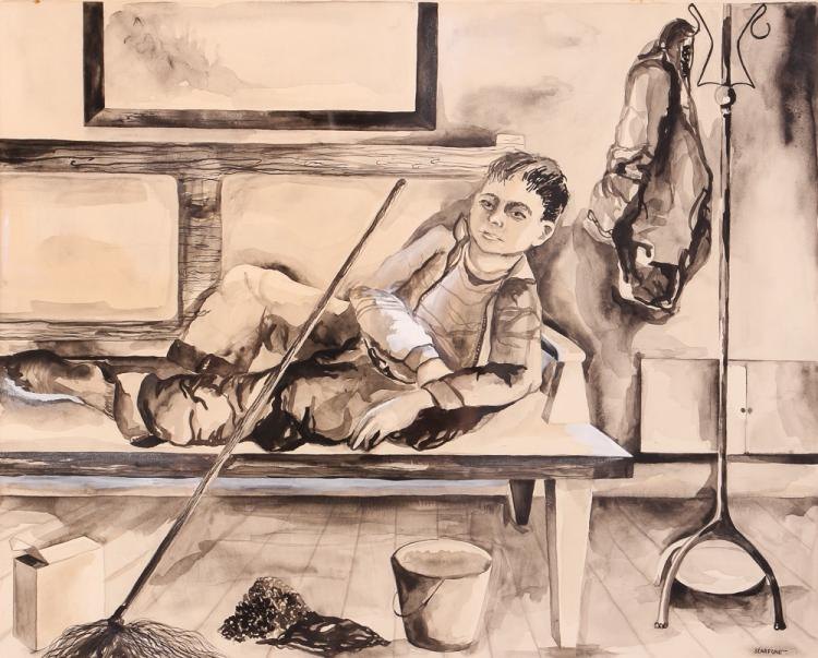 John Scarfone charcoal