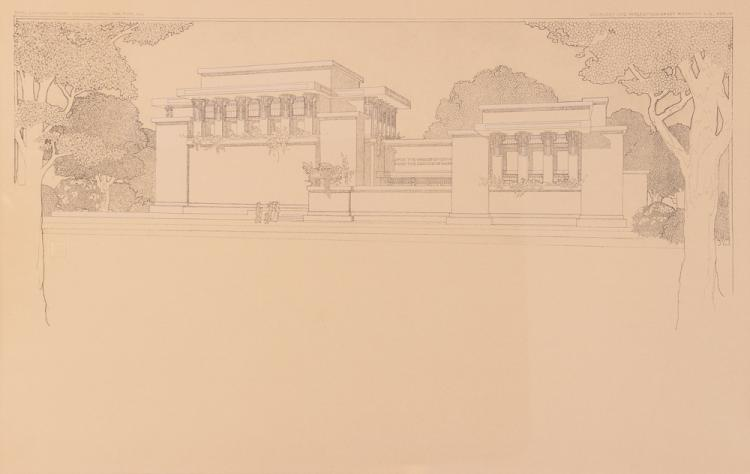 Frank Lloyd Wright Wasmuth print,