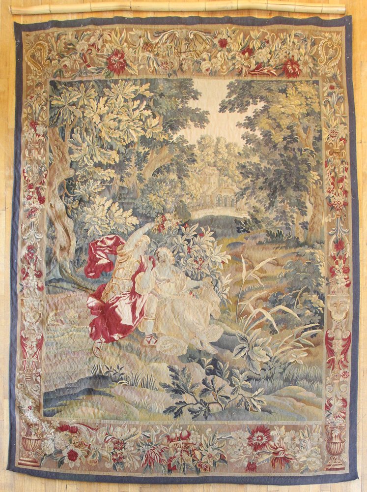 AUBUSSON STYLE FRENCH Tapestry