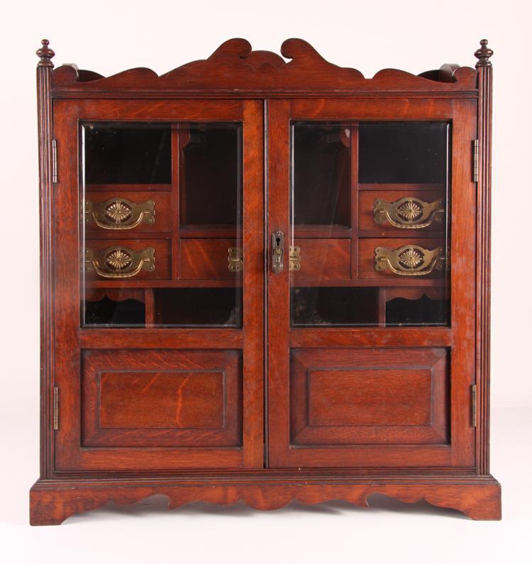 Good Edwardian Mahogany Apothecary Smoking / Collector Cabinet