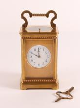 Fine Large Brass Repeating Carriage Clock