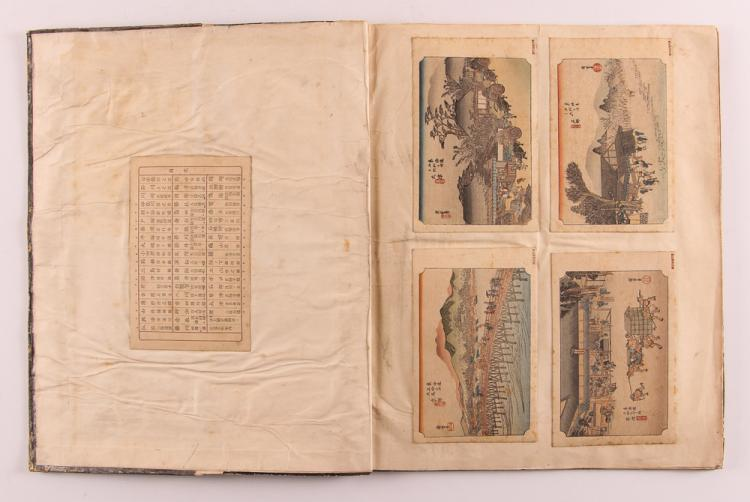 Japanese Printed Card Album by Hiroshige of 49 Views