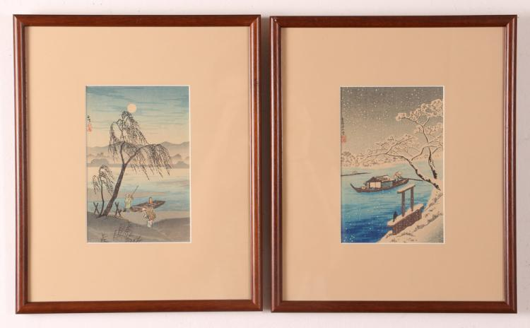 2 Shotei color woodblocks