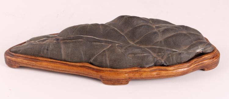 Scholar's Rock on Custom Wood Base