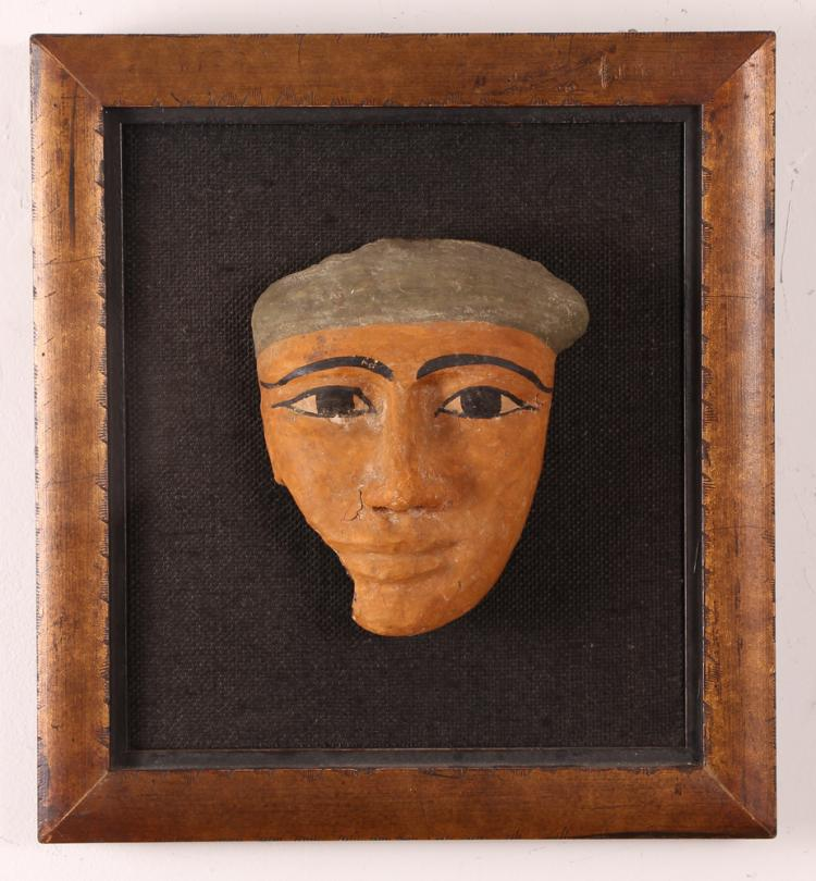Ancient Egyptian Cartonnage Sarcophagus Mask