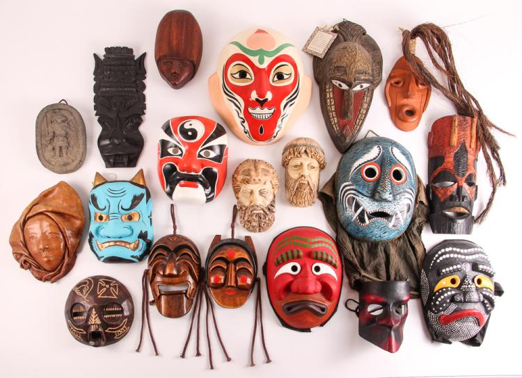 18 Various Ethnic Masks & Figural Reliefs