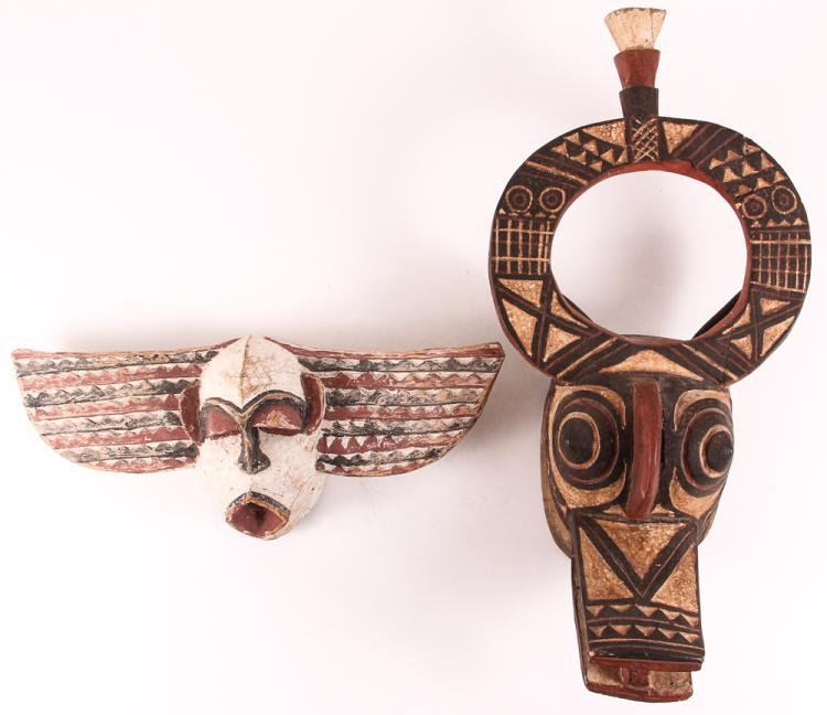 2 African Ceremonial Masks