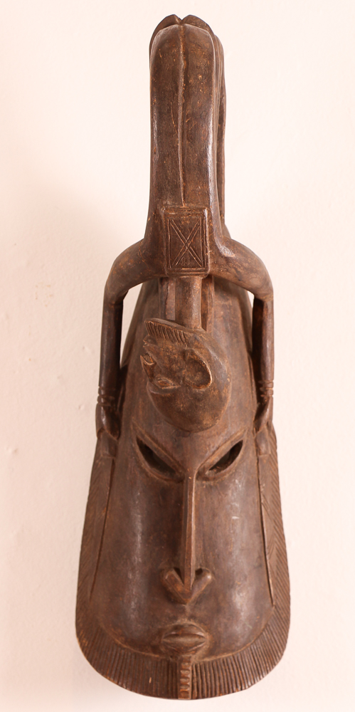 African Fertility Figural Tribal Mask