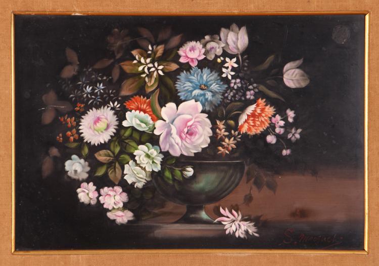 Lenwile Ardalt Porcelain Bouquet Painting