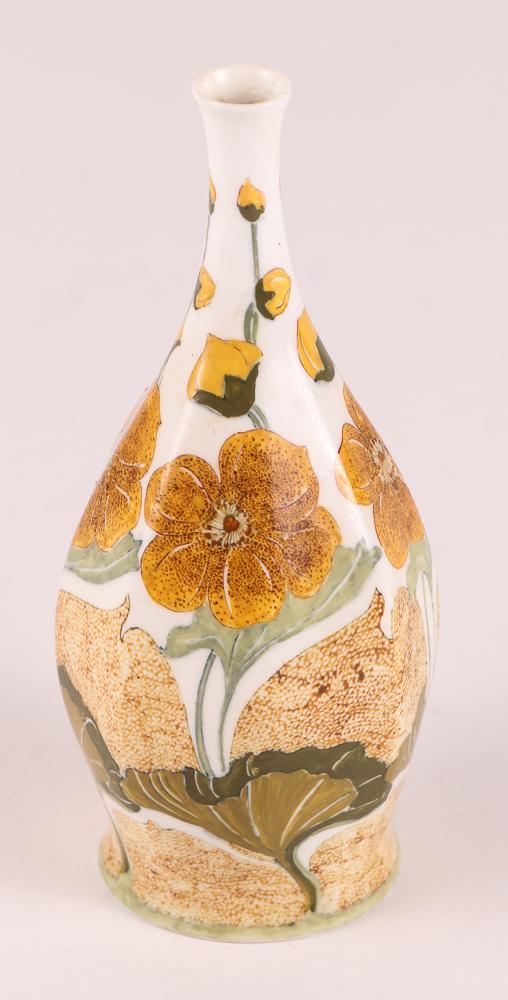 Rozenburg Den Haag Art Nouveau Eggshell Porcelain Vase