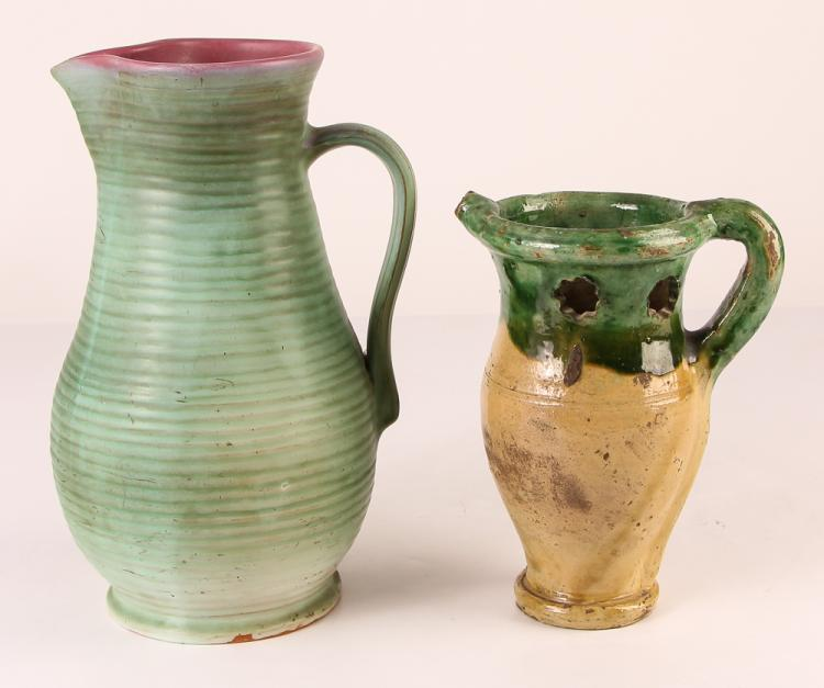 Weller Ceramic pitcher & French Puzzle Jug