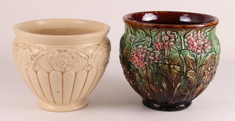 2 Art Pottery Jardinières