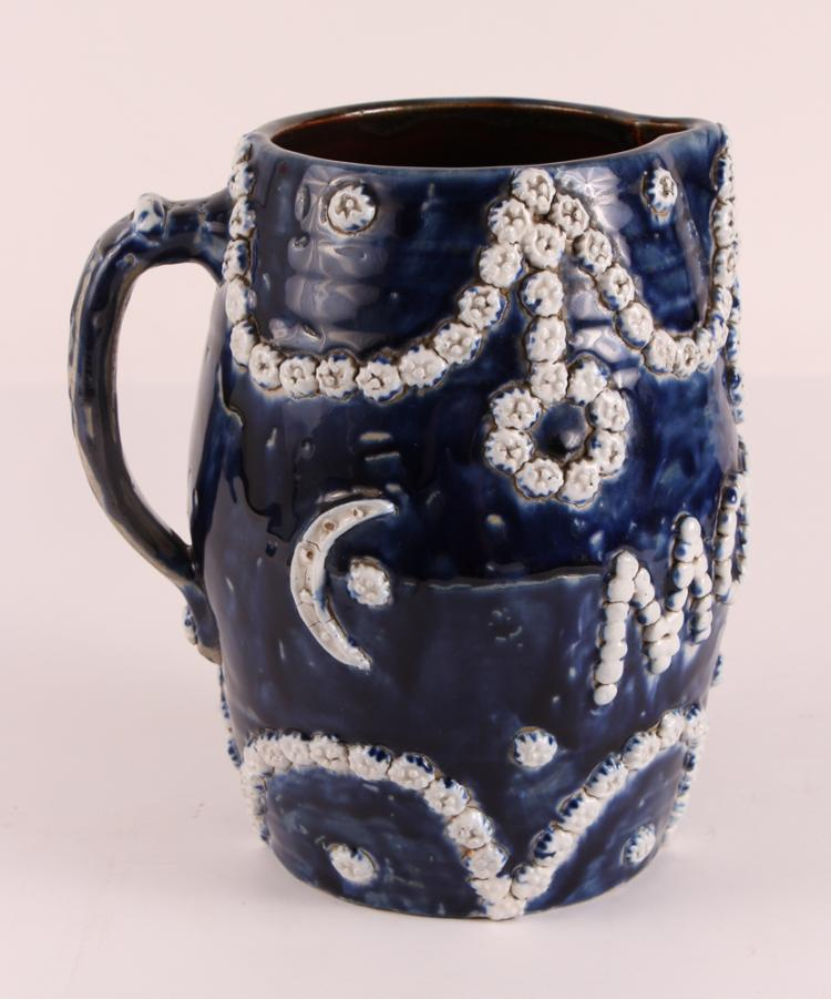 Mother Ceramic Pitcher 1902, J M Tisch