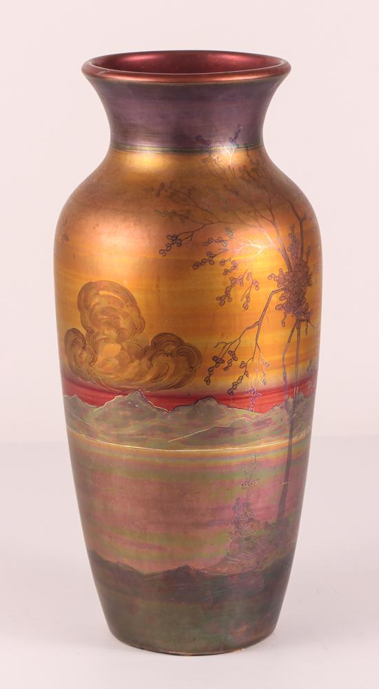 Weller Pottery LaSa Landscape Vase,