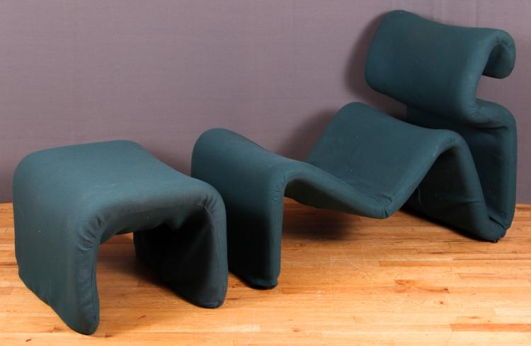 Jan Ekselius Lounge Chair & Foot Stool