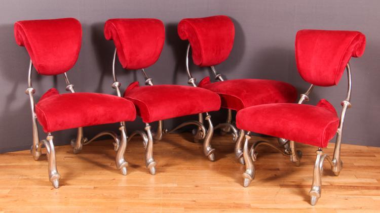 4 Jordan Mozer Iridium Ballet Chairs