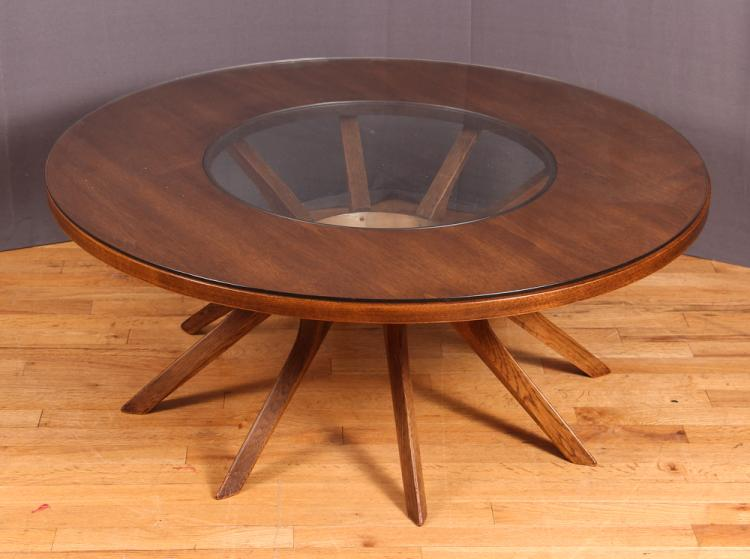 Melbourne Smith for Broyhill Brasilia Cathedral Round Coffee Table