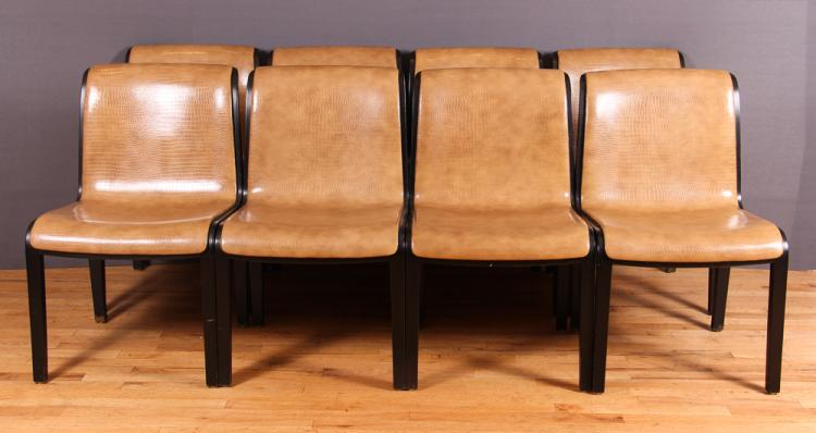 8 Knoll Chairs designed by Bill Stephens, 1972 vintage